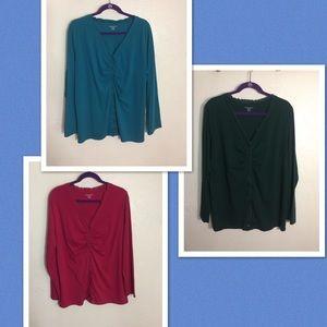 "Lot of ""3"" Karen Scott Shirts..Pre-Owned Sz 16-18W"